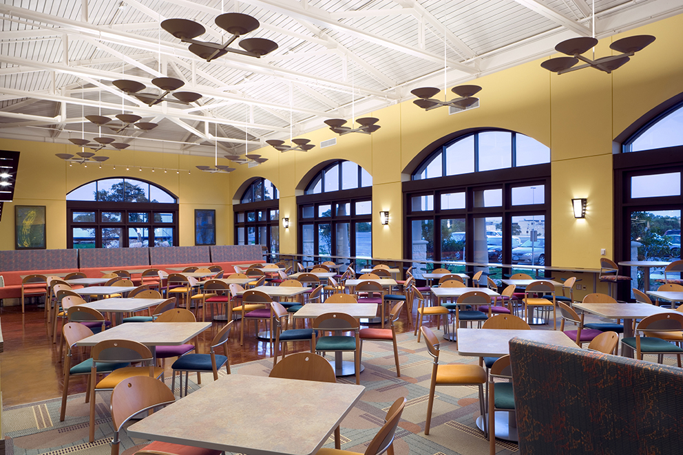 6 roadrunner cafe and john peace library dinning areas for Interior design degree plan utsa